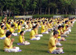 The Falun Gong in Victoria Park